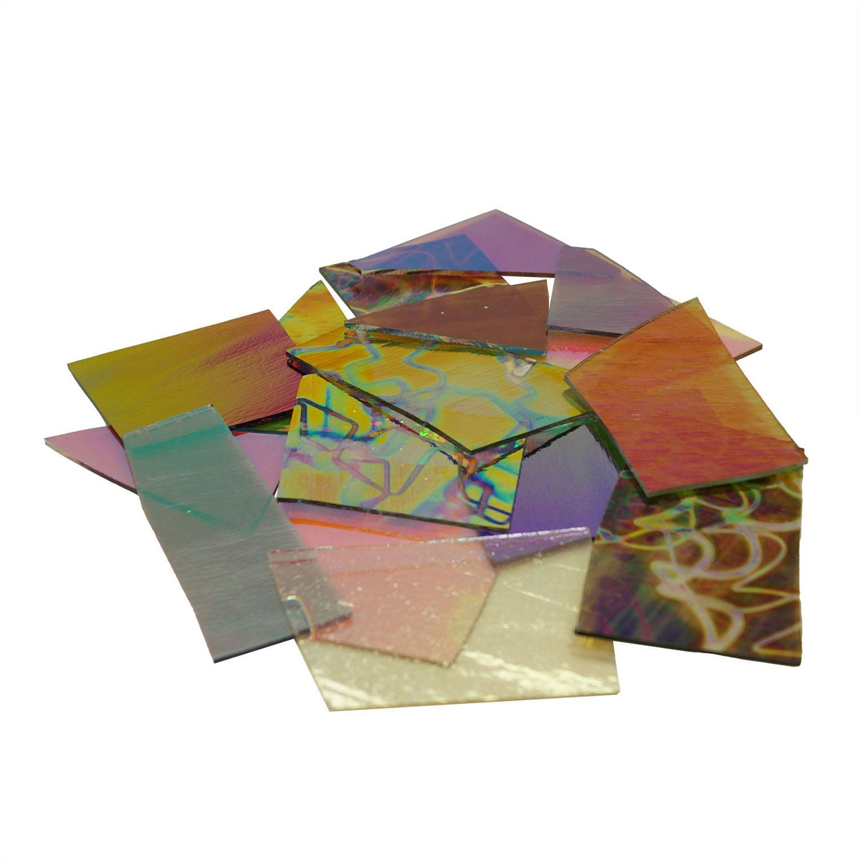 1/2 Lb CBS Crinklized Scrap On Thin Clear - 90 COE