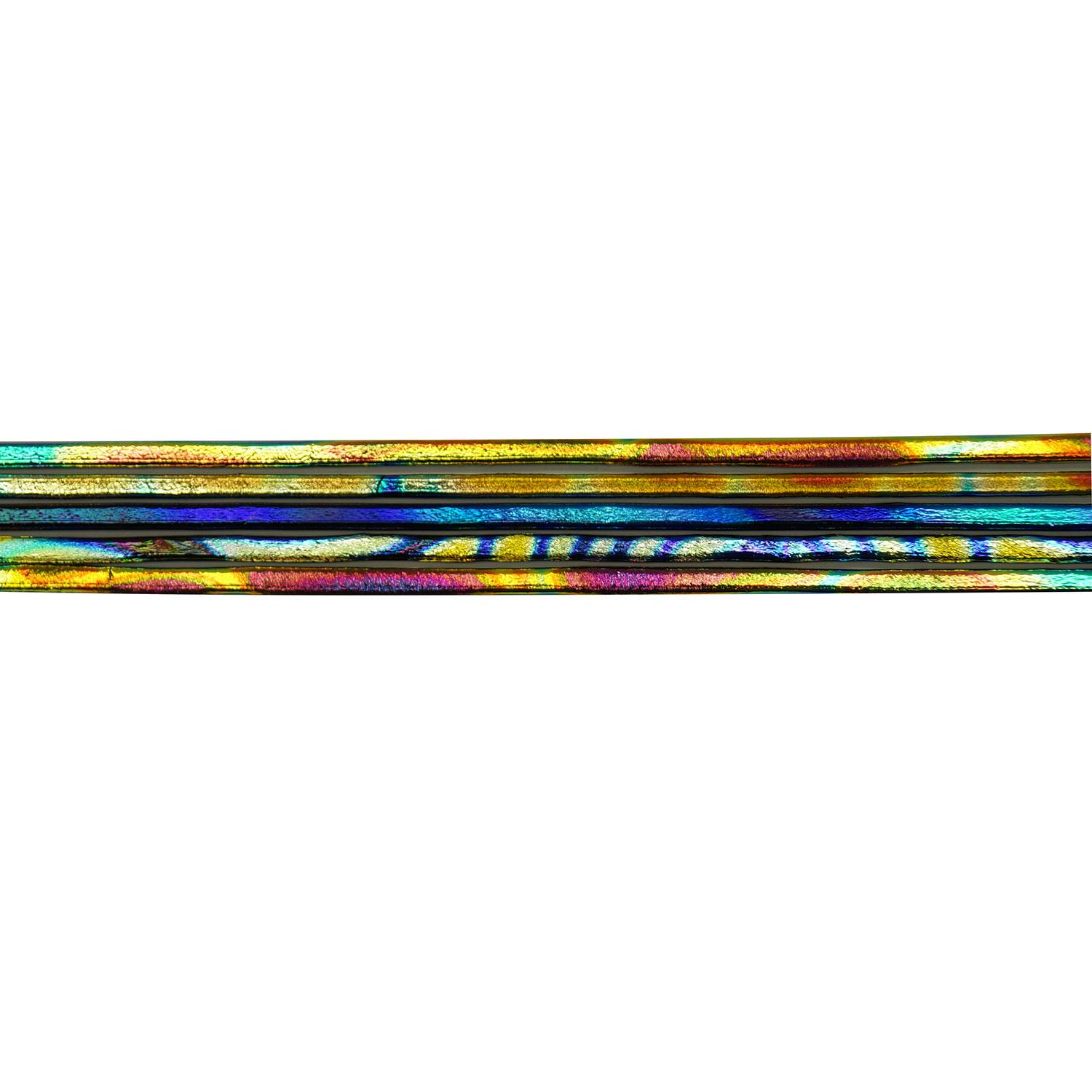 DichroMagic Tie Dye Dichroic On Thin Black Hot Stix 5 Pack - 90 COE