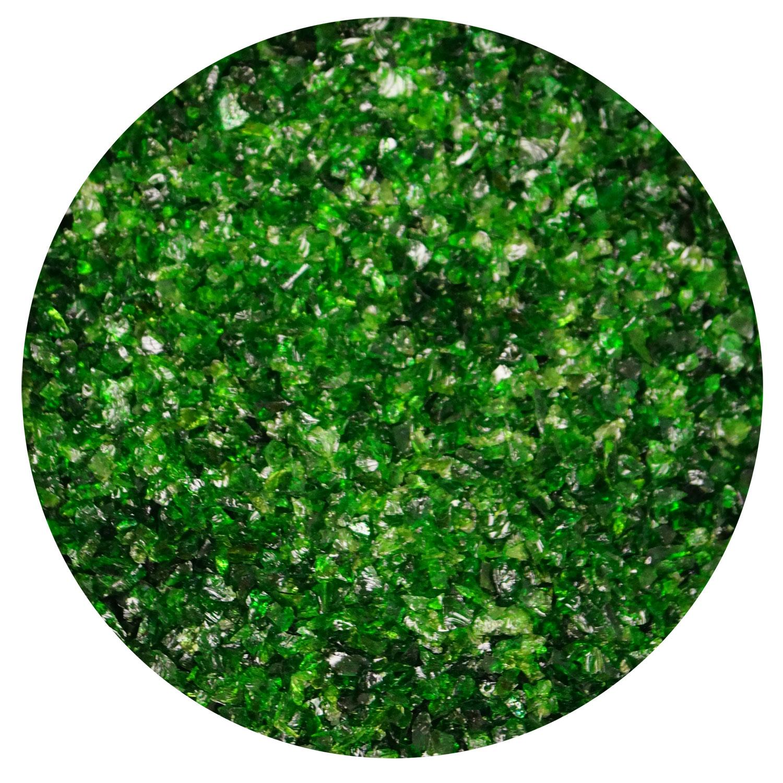 4 lb Aventurine Green Opal Medium Frit - 96 COE