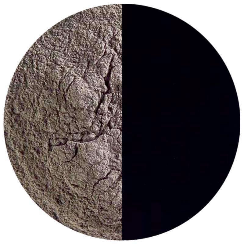 5 Oz Stiff Black Opal Powder Frit - 90 COE