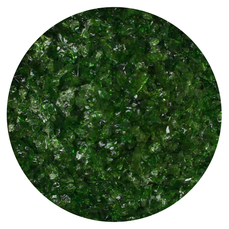 8.5 oz Aventurine Green Transparent Medium Frit- 96 COE