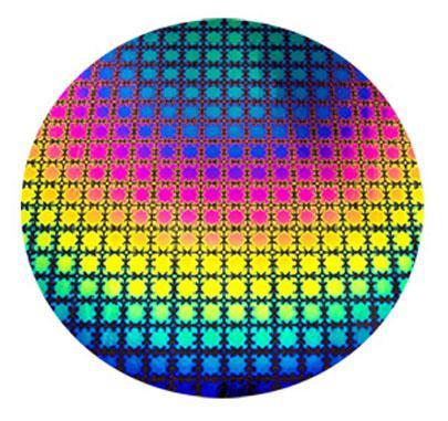 Rainbow Puzzle on Thin Black - 96 COE