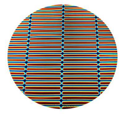 Cyan Red Stripes on Thin Black - 96 COE
