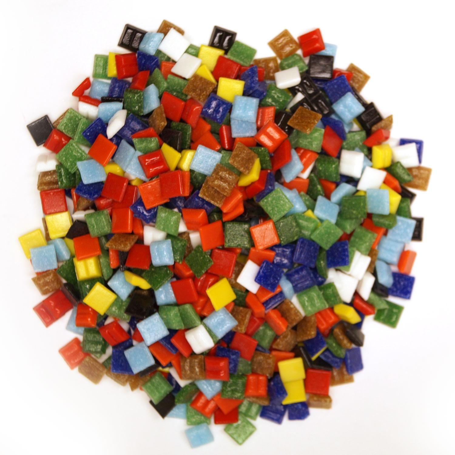 3/8 Venetian Glass Tile Value Assortment - 1 lb