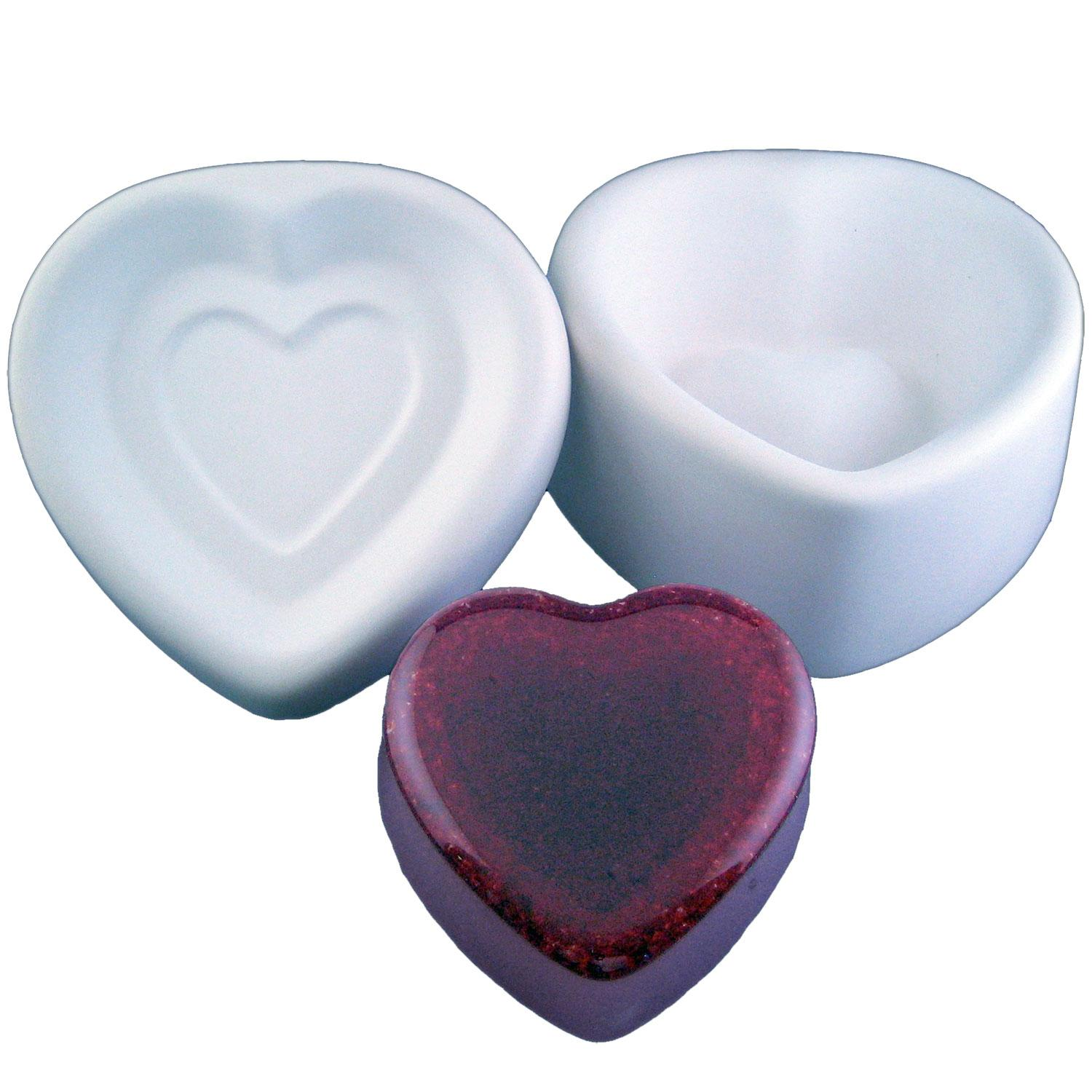 3-1/2 Heart Box With Lid Casting Mold