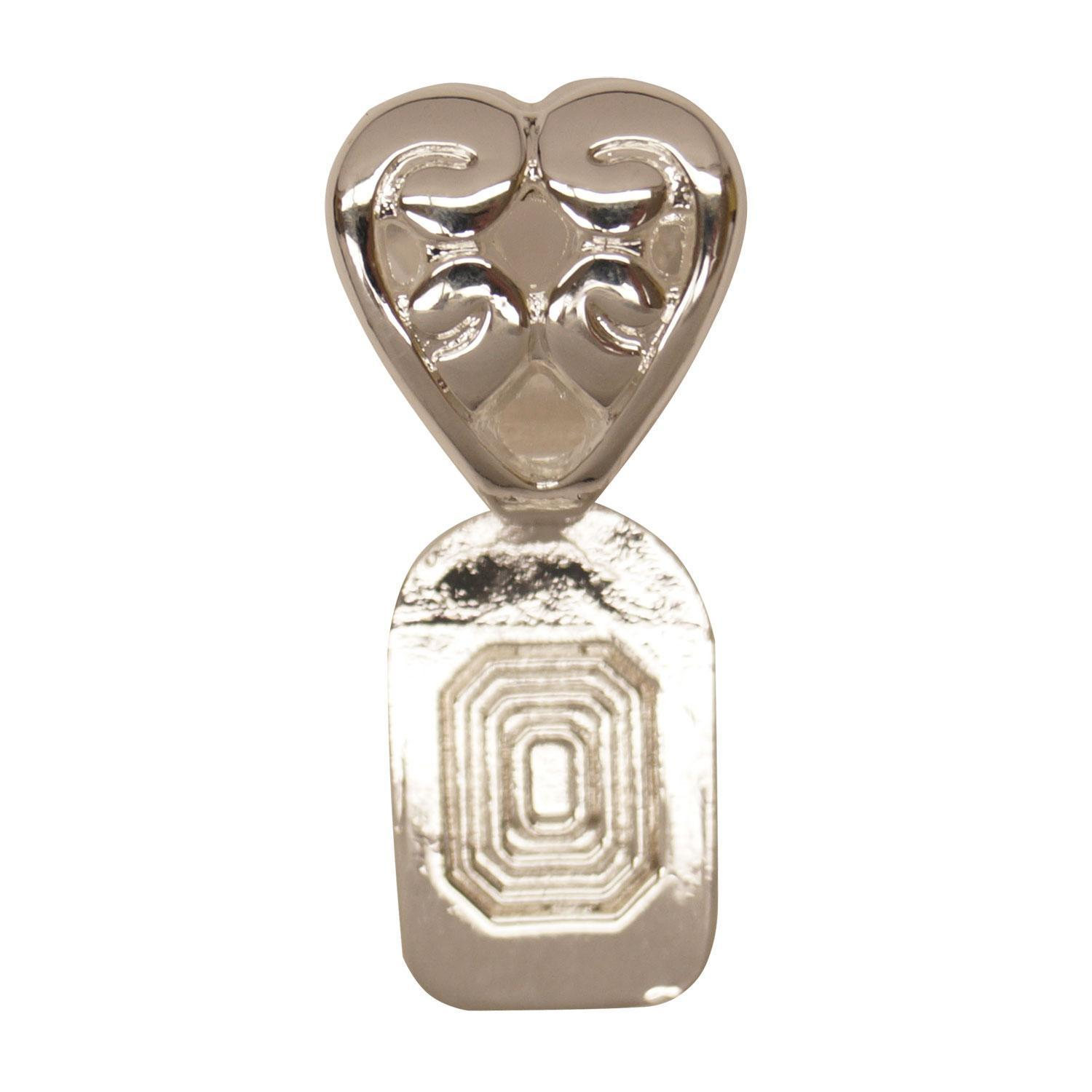 Silver Plated Heart Bails - 5 Pack
