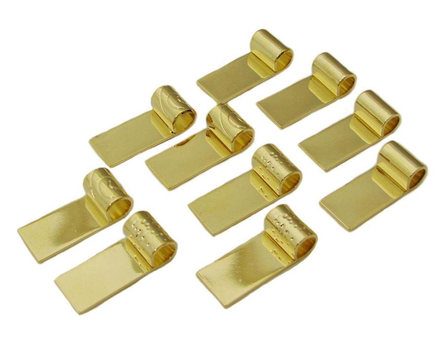 14k Gold Plated Tube Bail Assortment - 10 Pack