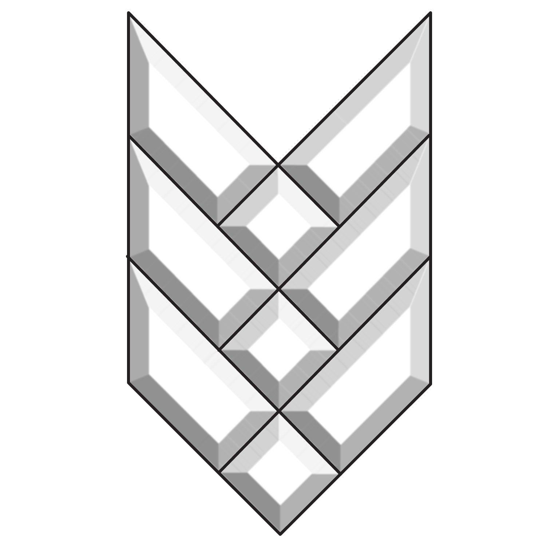 Arrow Bevel Cluster