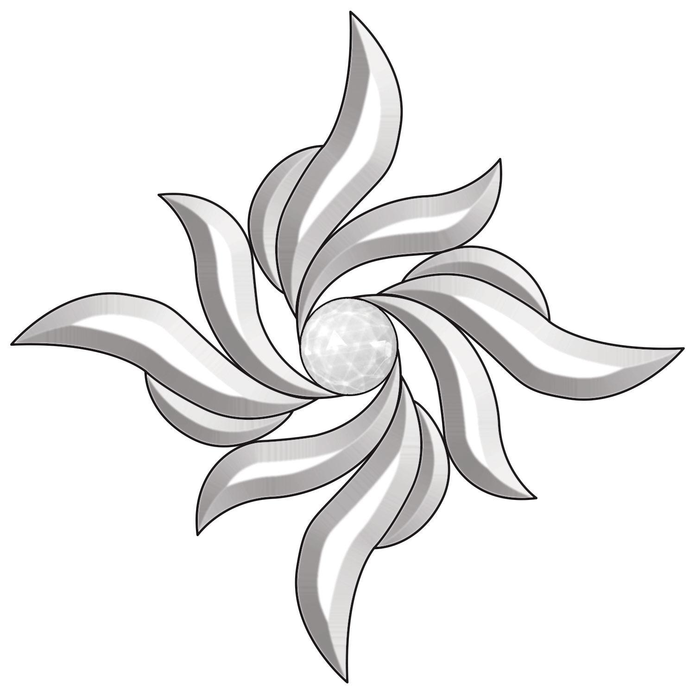 Pinwheel Bevel Cluster