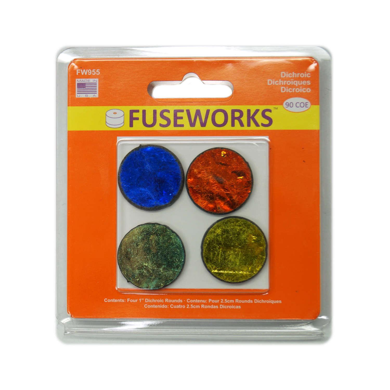 Fuseworks Dichroic Pre-Cut Circles - 90 COE