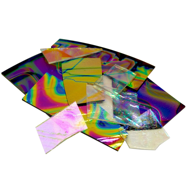 1/4 Lb CBS Dichroic Pattern Scrap - 90 COE