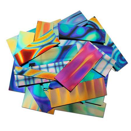 1 Lb DichroMagic Tie Dye Pattern Dichroic Scrap On Black - 96 COE