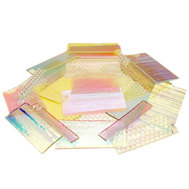 1 Lb DichroMagic Solid Colors Dichroic Scrap On Clear - 96 COE