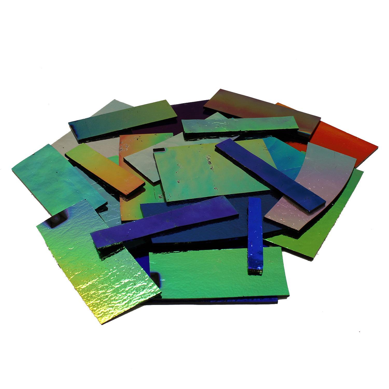 1 Lb DichroMagic Solid Colors Dichroic Scrap On Black - 96 COE