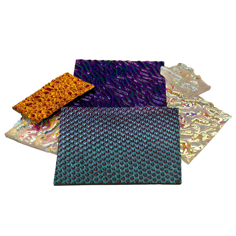 1/4 Lb CBS Textures Dichroic Scrap - 96 COE
