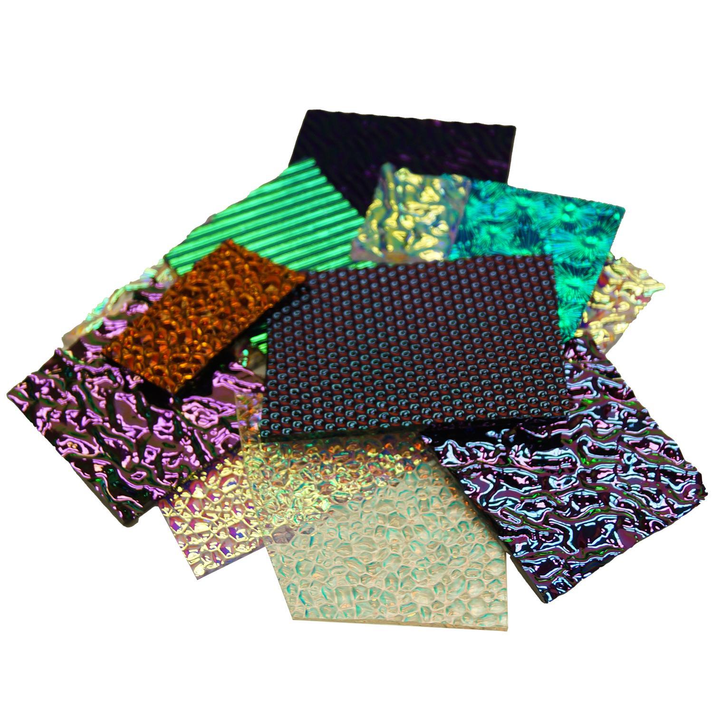 1/2 Lb CBS Textures Dichroic Scrap - 96 COE