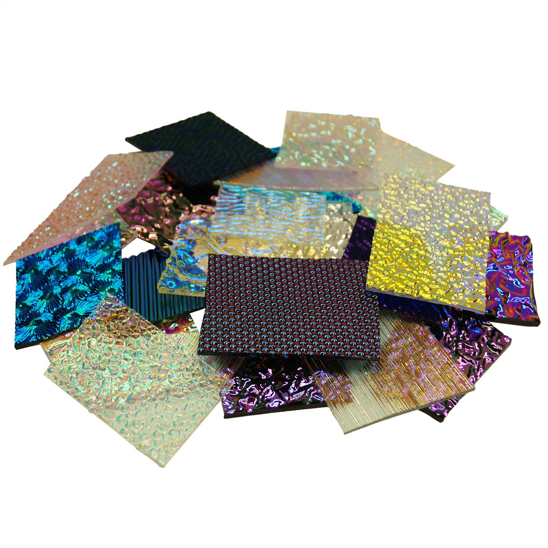 1 Lb CBS Textures Dichroic Scrap - 96 COE