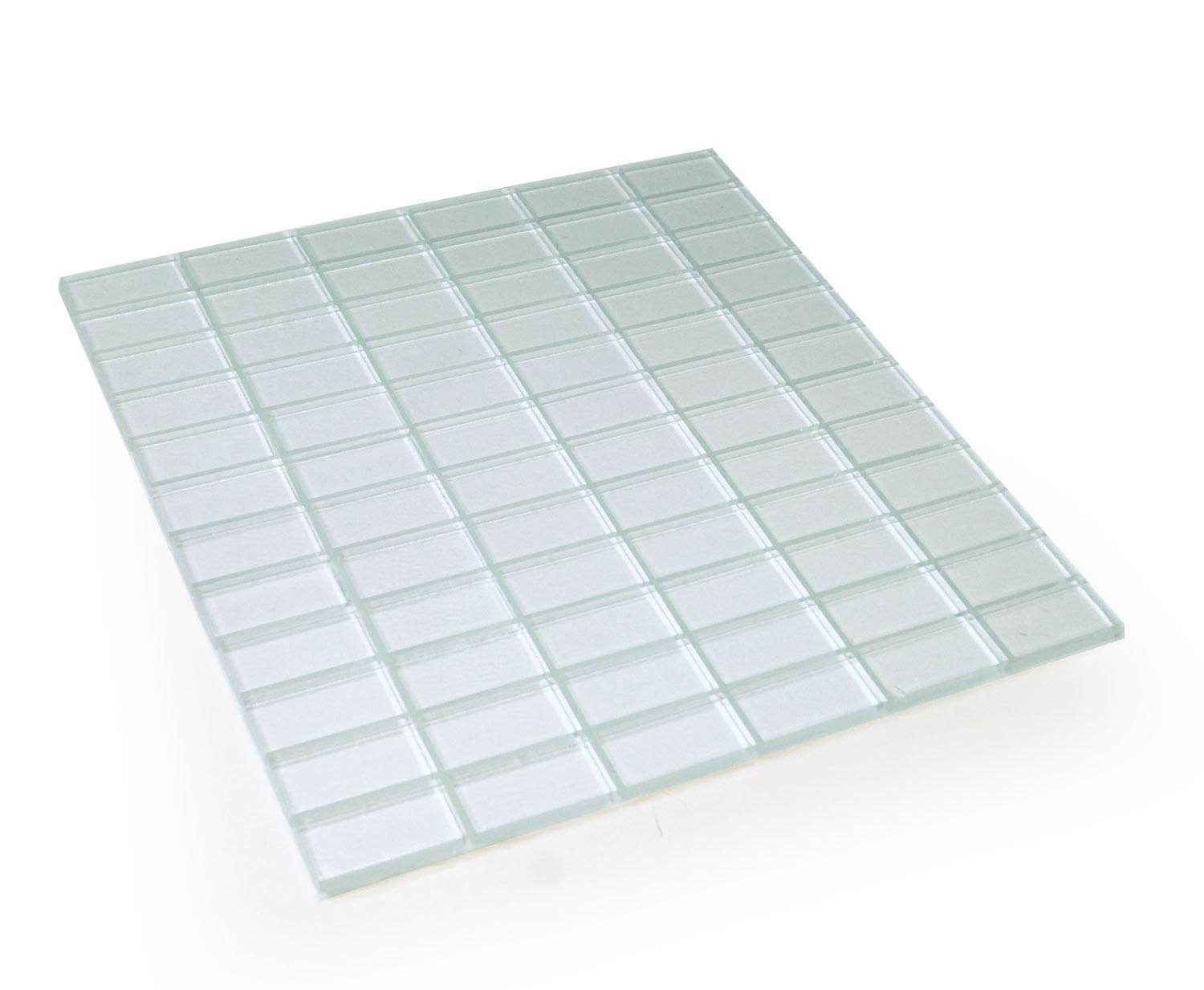 1 x 2 Clear Crafting Tiles - 72 Pieces