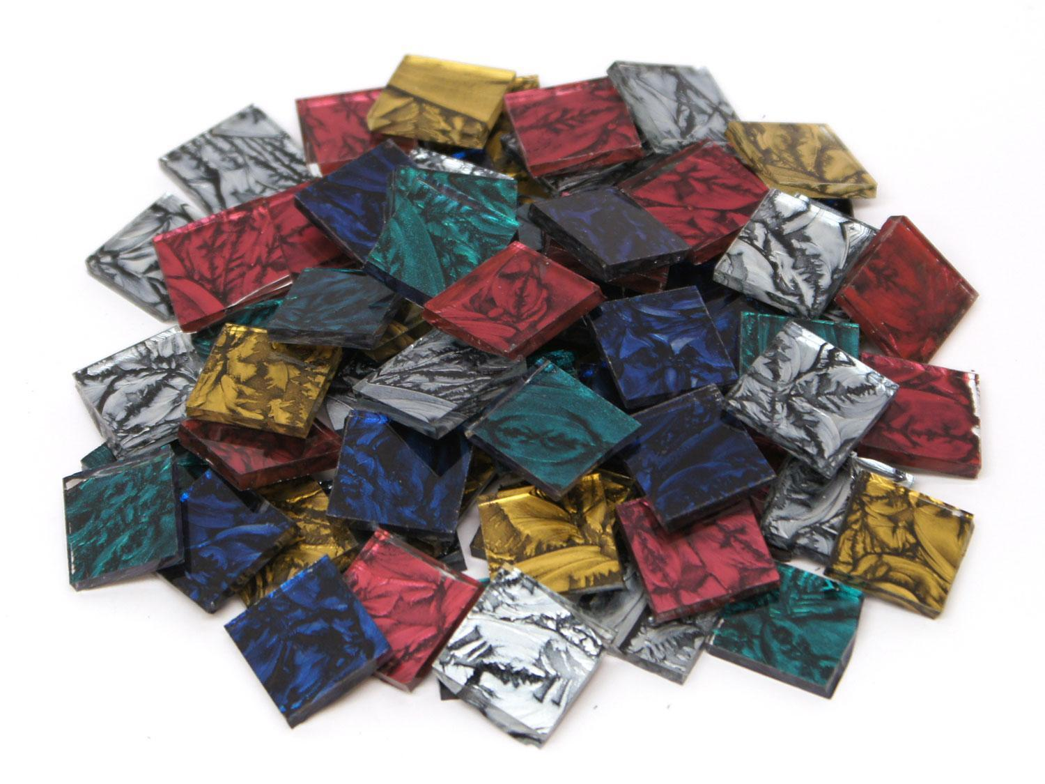 3/4 Van Gogh Solid Color Glass Chips Mix - 80 Pieces