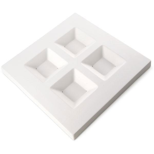 14 x 14 Soft Edge Four Square Platter Slumper