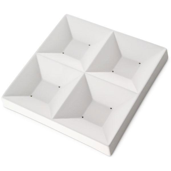 7-1/4 x 7-1/4 Four-Square Dish Slumping Mold