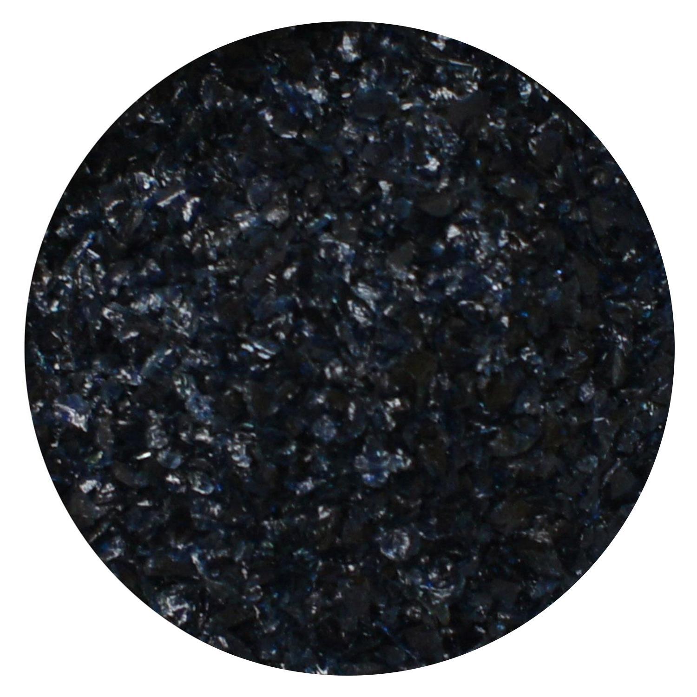 8.5 Oz Aventurine Blue Transparent Medium Frit - 96 COE