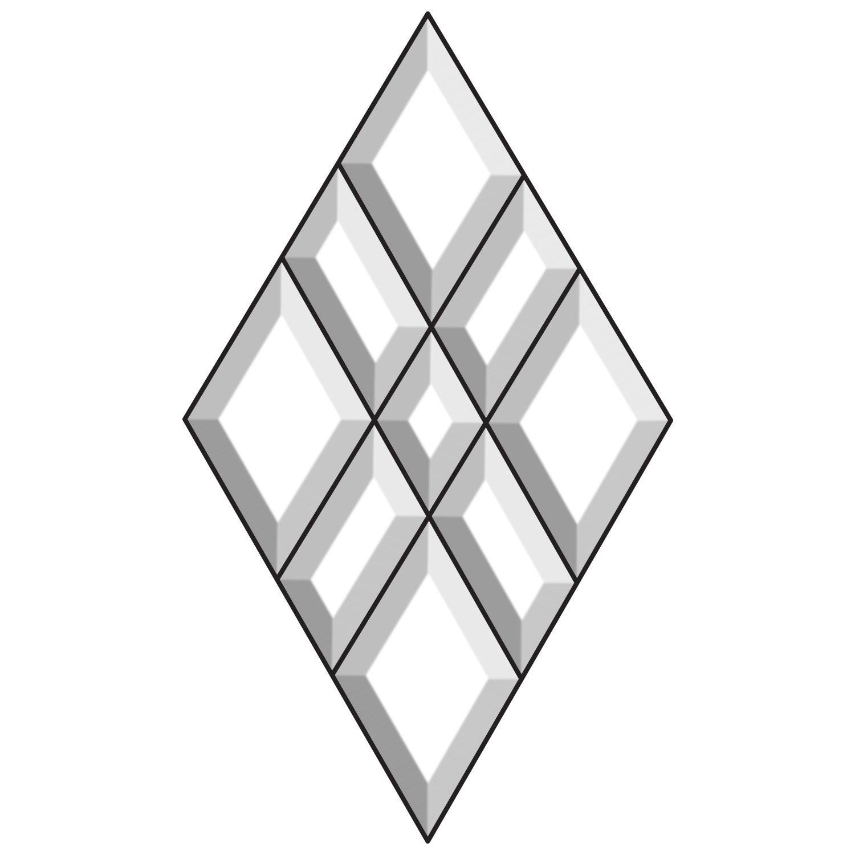 Exquisite Diamond Bevel Cluster