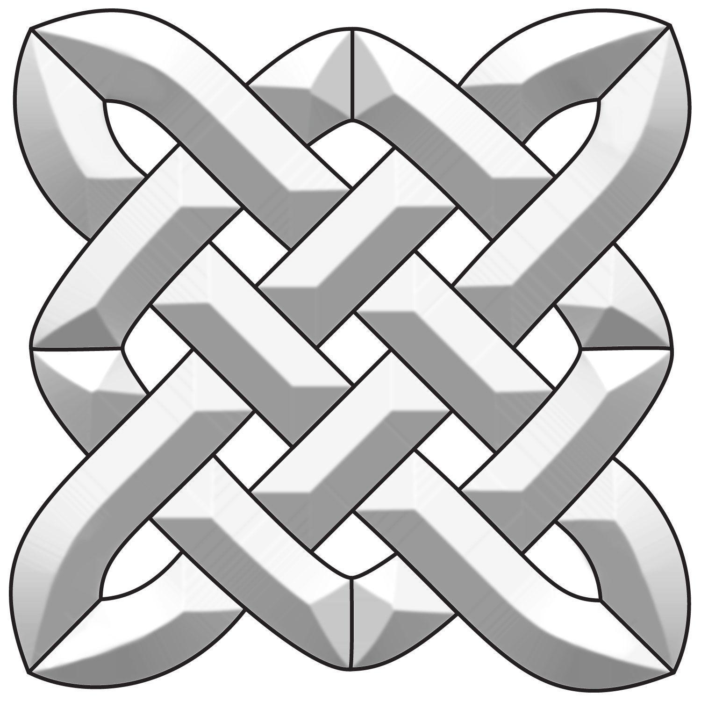 Celtic Square Bevel Cluster