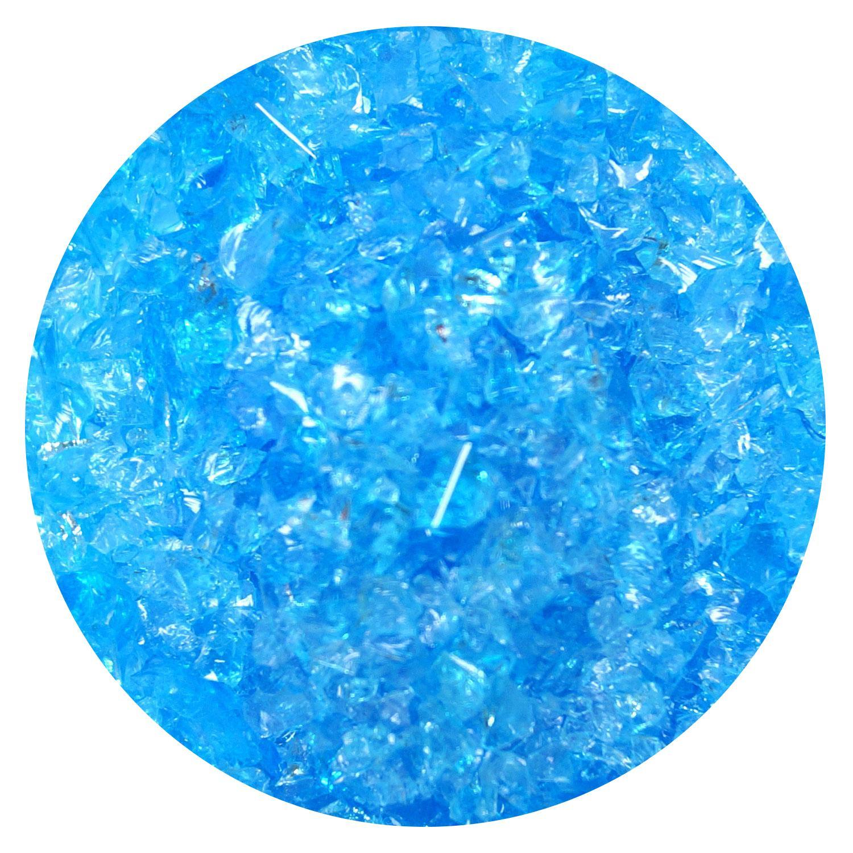 8.5 Oz Sky Blue Transparent Medium Frit - 96 COE