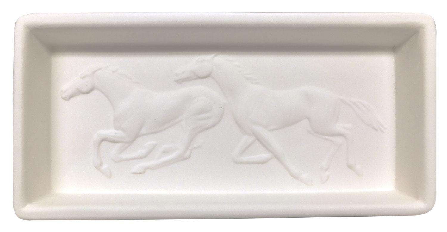 Running Horses Tile Mold