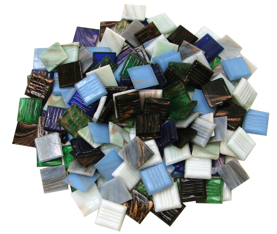 3/4 Gold Streaky Glass Tile Value Mix - 1 Lb