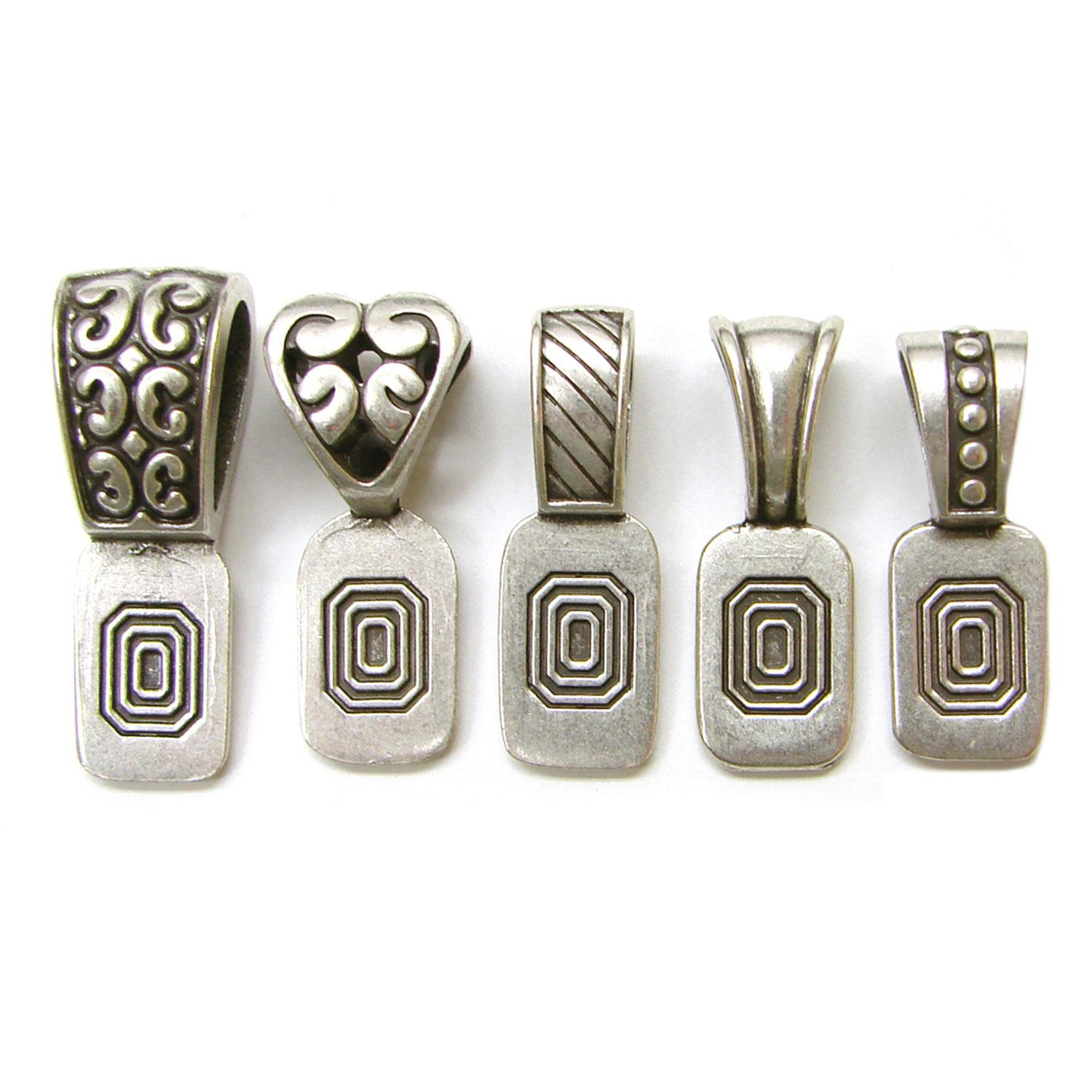 Antique Silver Variety Art Bails - 5 Pack
