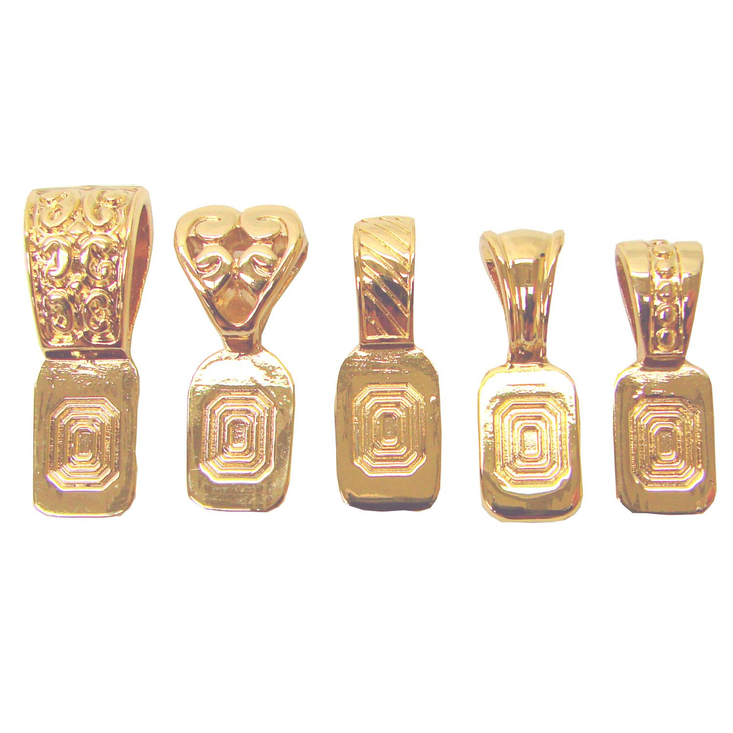Gold Plated Variety Art Bails - 5 Pack