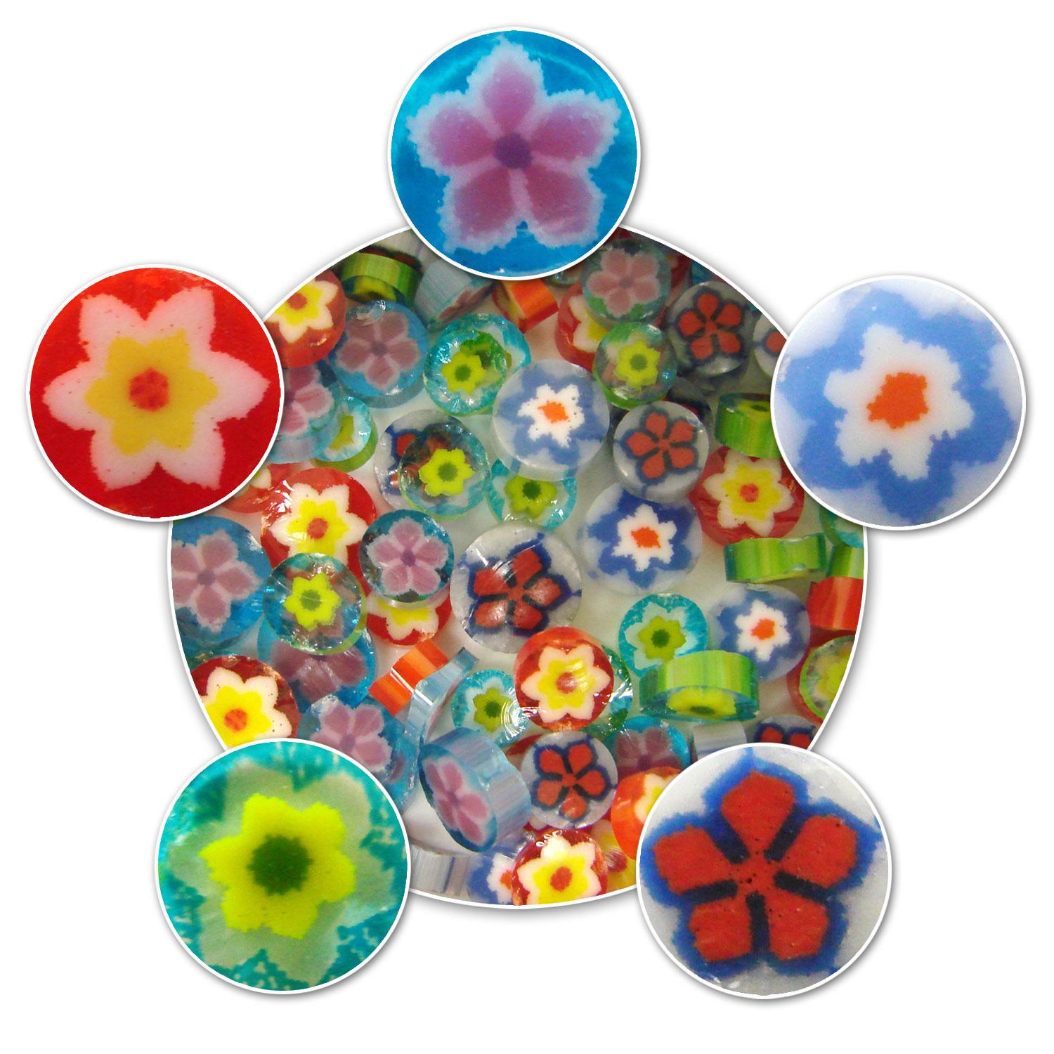 Floral Millefiori Assortment - 90 COE