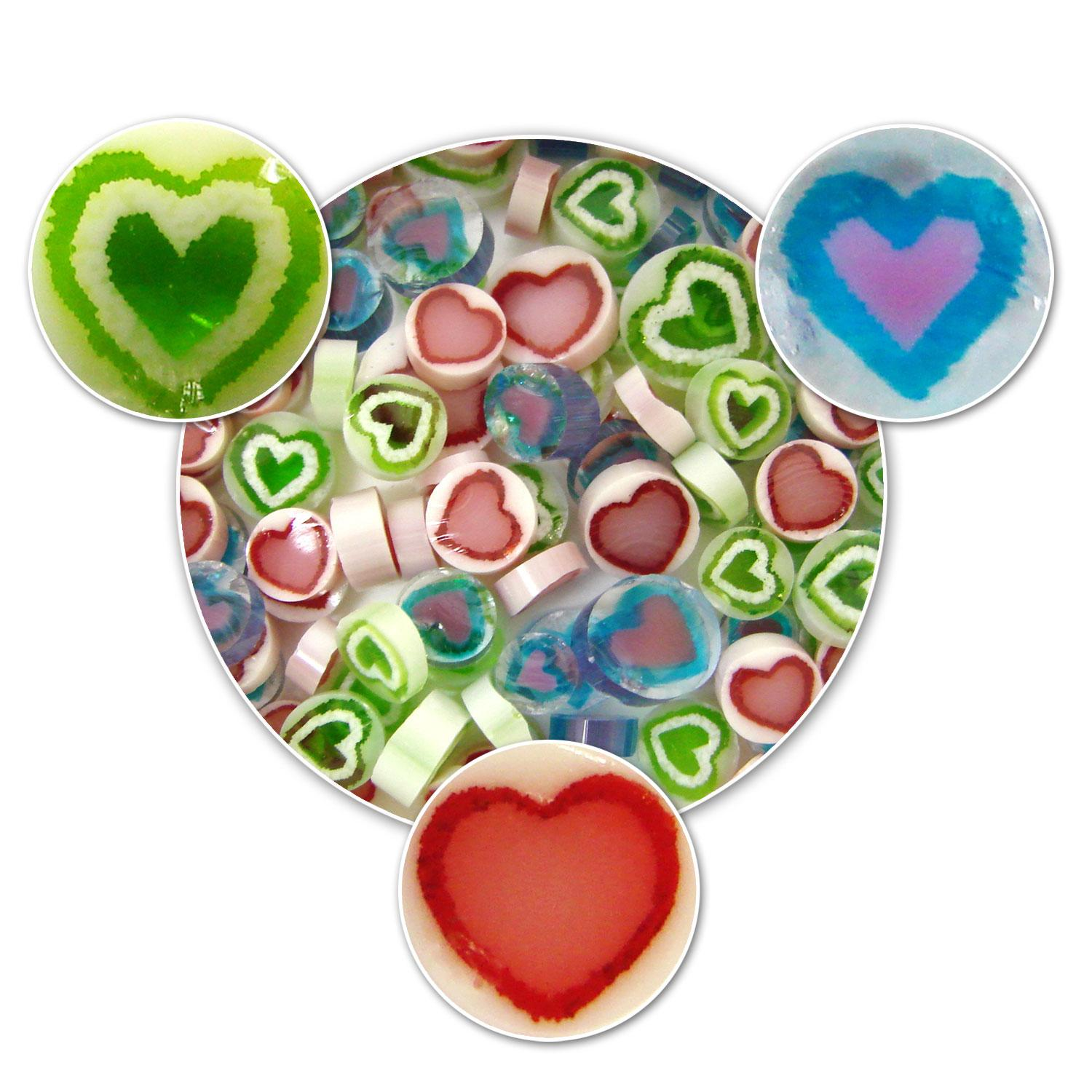 Heart Millefiori Assortment - 90 COE