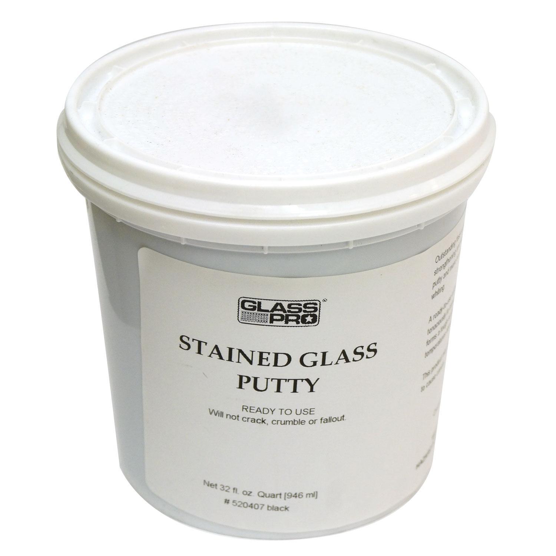 Black Window Glazing Putty : Glass pro black putty quart came supplies delphi