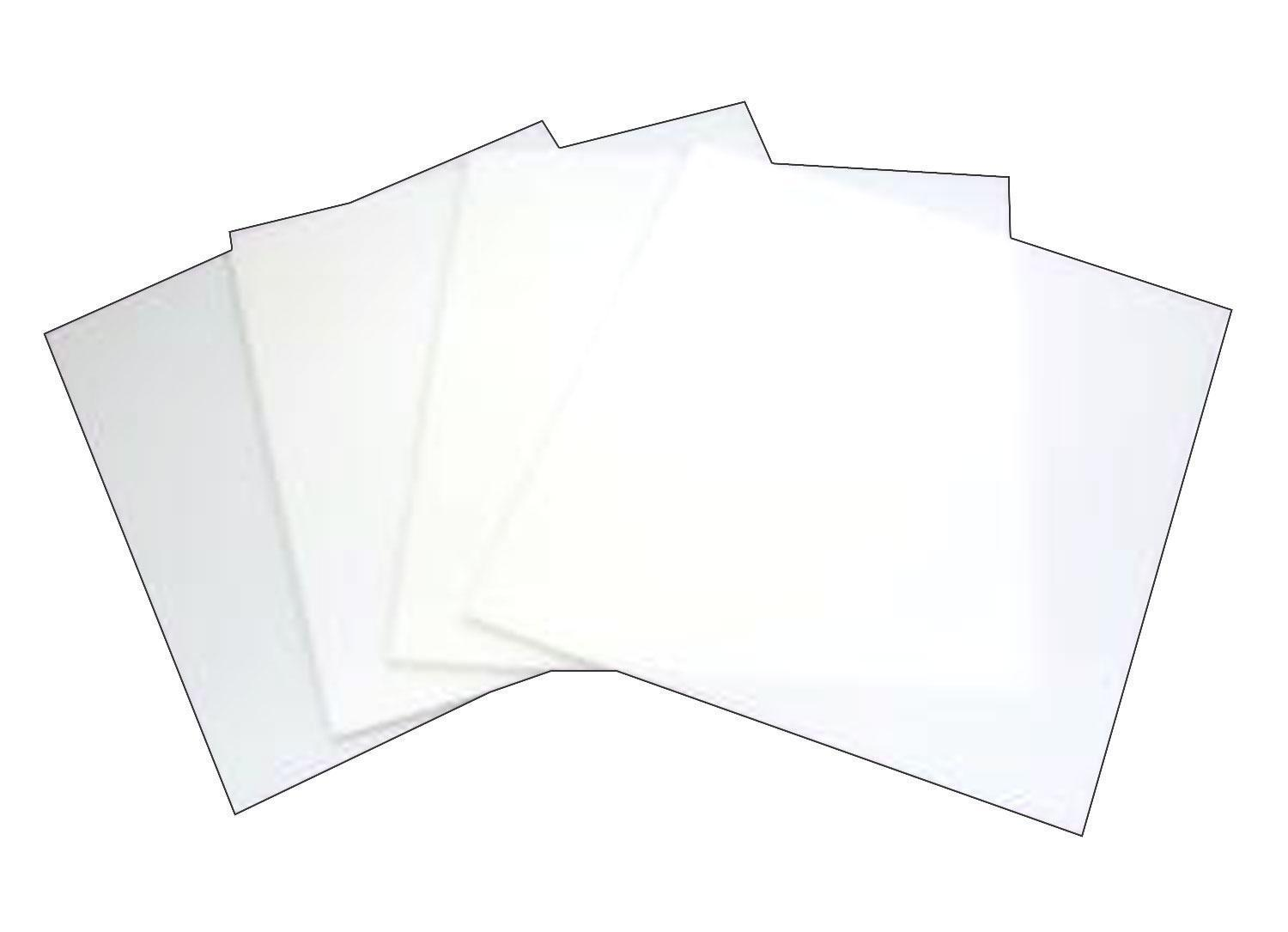 8 White Glass Squares 4 Pack - 96 COE