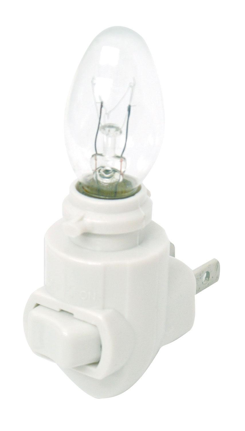 White Night Light with 4w Bulb - 6 Pack