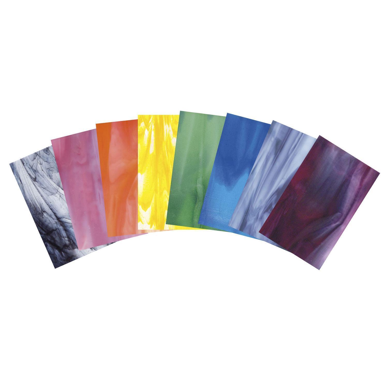Bullseye Rainbow Streaky Glass Pack - 90 COE
