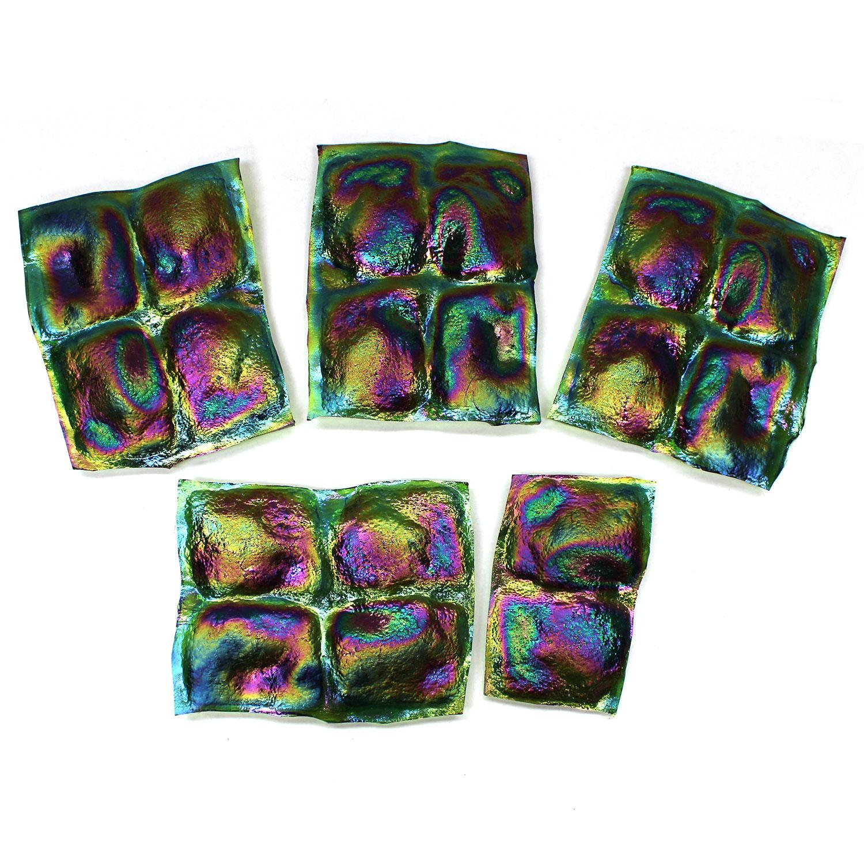 Iridized Turtleback Tiles - 18 Pieces