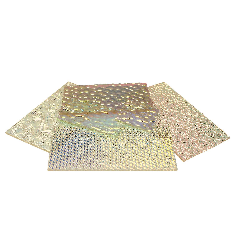 1/4 lb Wissmach Texture Scrap on Clear - 90 COE