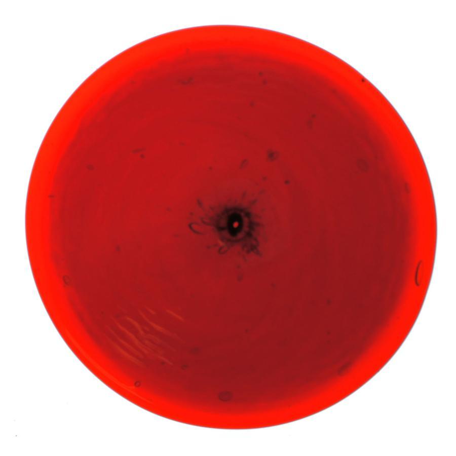 3 Ruby Red Spun Rondel