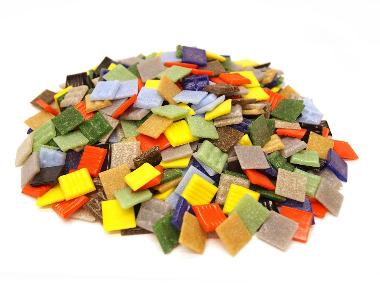 3/4 Venetian Glass Tile Value Assortment - 3 lb