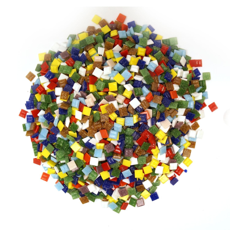 3/8 Venetian Glass Tile Value Assortment - 3 Lb Bulk