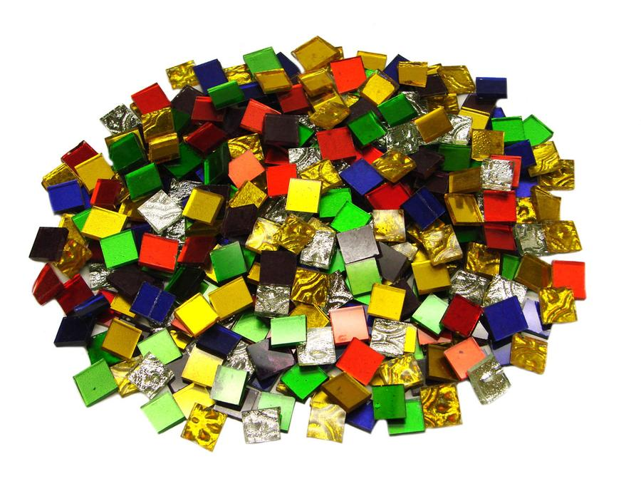 1/2 Mirror Tile Variety Mix - 1 Lb