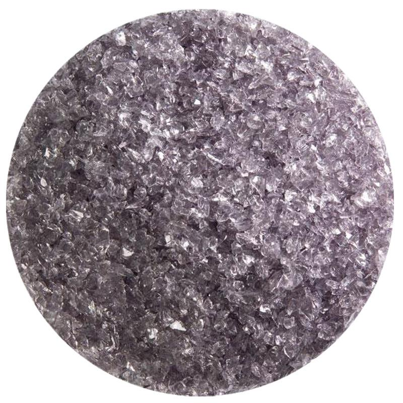 5 Oz Light Silver Gray Transparent Medium Frit - 90 COE