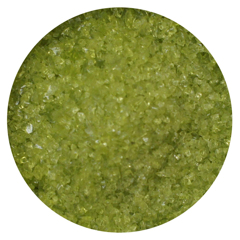 8.5 Oz Lime Green Transparent Medium Frit - 96 COE