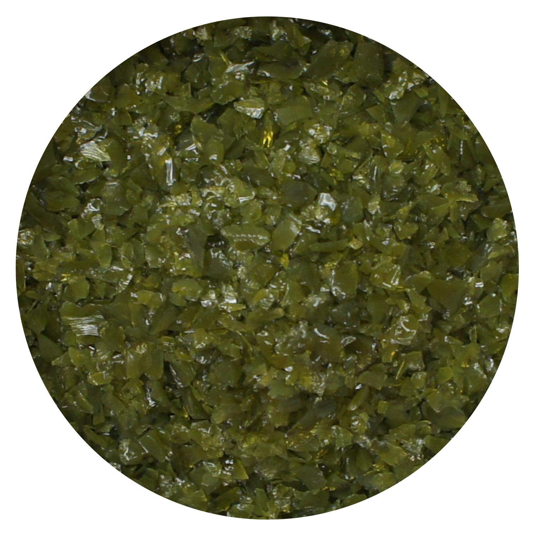 8.5 Oz Olive Green Opal Medium Frit- 96 COE