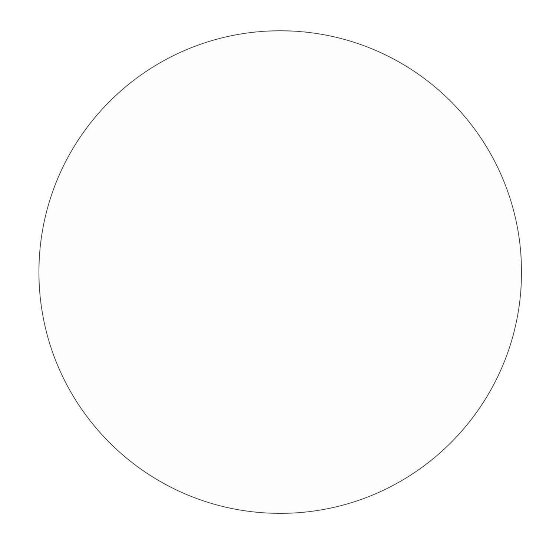 Wissmach White Opal 10 Circle - 96 COE