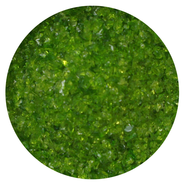 8.5 Oz Moss Green Transparent Medium Frit - 96 COE